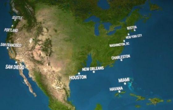 Как будет выглядеть Земля, если растает весь лед на планете